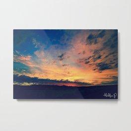Hometown Sunrise Part Blue Metal Print