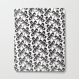 Quirky Black & White Metal Print