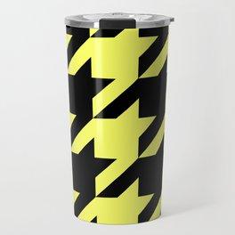 Baby Yellow Houndstooth Travel Mug