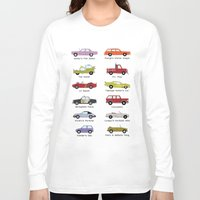 cars Long Sleeve T-shirts featuring Simpsons Cars by SIME Design