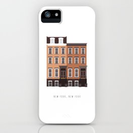 New York, NY Brownstone iPhone Case