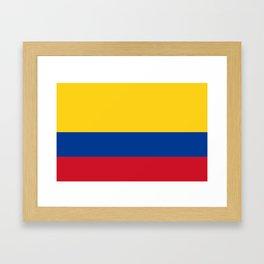 Flag of Colombia-Colombian,Bogota,Medellin,Marquez,america,south america,tropical,latine america Framed Art Print