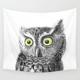 Owl portrait Wall Tapestry