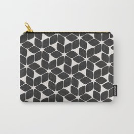 Black Petals Carry-All Pouch