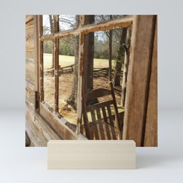 Rocking chair reflection Mini Art Print