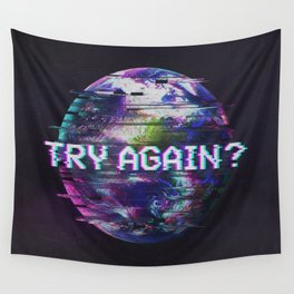 Humanity Glitch Wall Tapestry