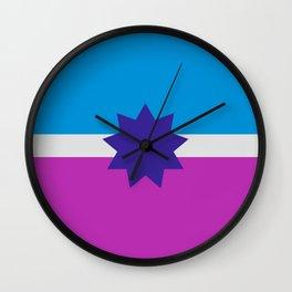 Polyamory Flag Wall Clock