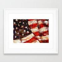 flag Framed Art Prints featuring Flag by Urlaub Photography