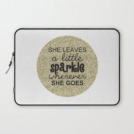 She Sparkles Laptop Sleeve