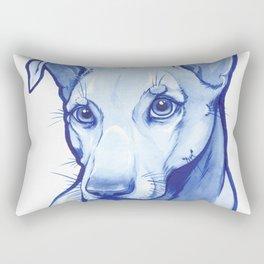 Blue Pittie Rectangular Pillow