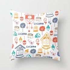 Cuckoo Pattern Throw Pillow