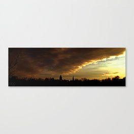 Notre Dame Skyline Panorama Canvas Print