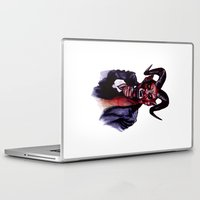 satan Laptop & iPad Skins featuring Uncle Satan by Zombie Rust