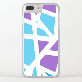 Abstract Interstate  Roadways Aqua Blue & Violet Color Clear iPhone Case