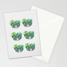 succulent plant set Stationery Cards
