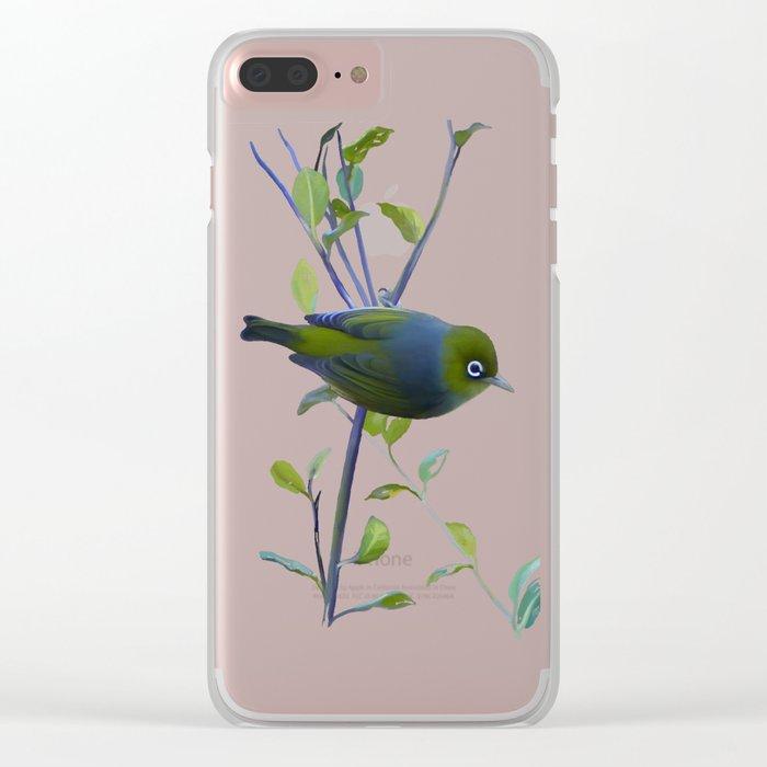 Little Silvereye Clear iPhone Case