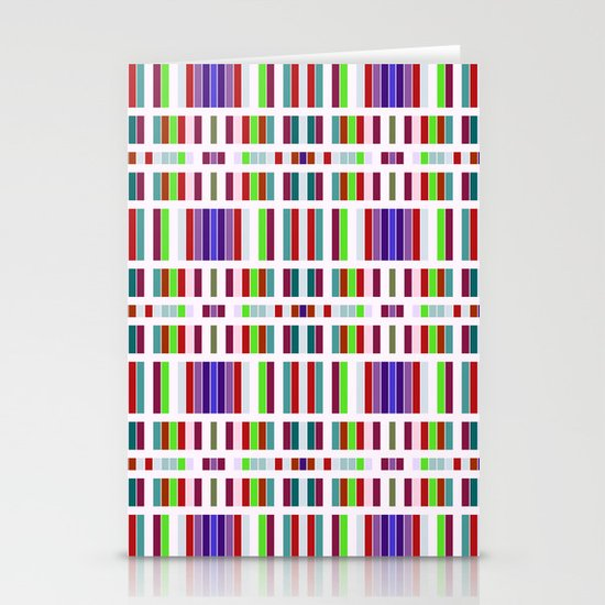 Retro Bar Pattern Stationery Cards