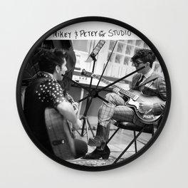 Birds in the Boneyard, Print 4: Mikey & Petey in the Studio Wall Clock