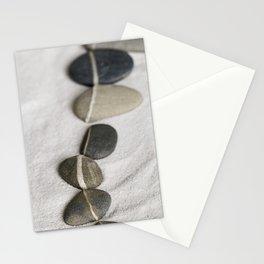 zen pebble line Stationery Cards