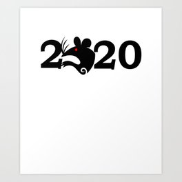 2020 Year Of The Rat Gift Design Art Print