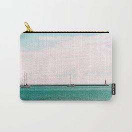 Pink and Blue Sailing Carry-All Pouch