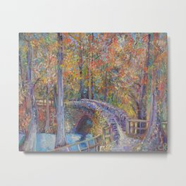 Colorado Springs Stone Bridge Metal Print