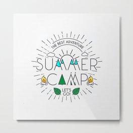Summer Camp – Born for Adtentures Metal Print