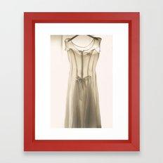 Wedding Dress Framed Art Print