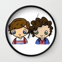 larry stylinson Wall Clocks featuring What Makes Larry Beautiful by clevernessofyou