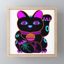 Maneki-Neon Framed Mini Art Print