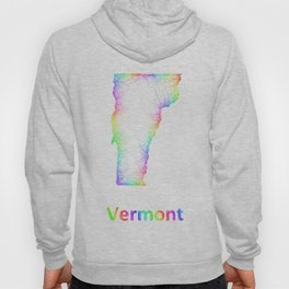 Rainbow Vermont map Hoody
