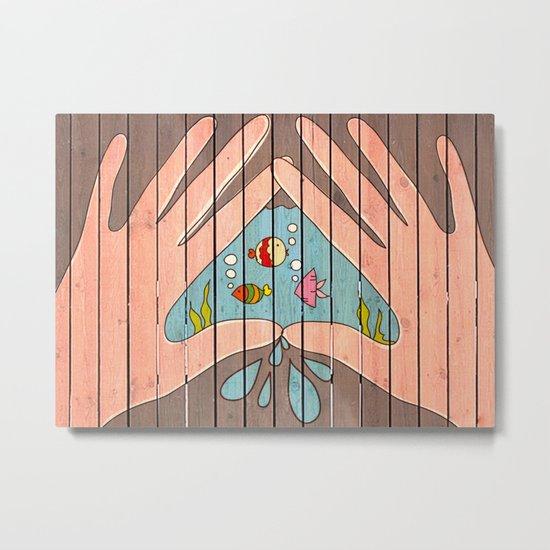 Save Water! Metal Print