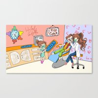 dentist Canvas Prints featuring dentist  by LoLo ChaN