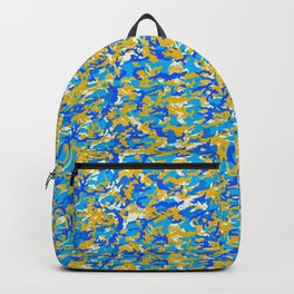 TCR-CAMO PRINT back pack -blue yellow Backpack