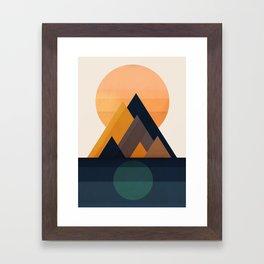 Twin Sun Framed Art Print