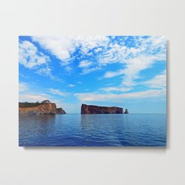 Perce Rock and Cliff Metal Print