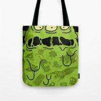 notorious Tote Bags featuring Notorious HGB by Josh Ln