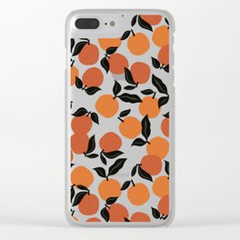 Seamless Citrus Pattern / Oranges Clear iPhone Case
