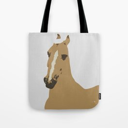 Abstract Palomino Horse Tote Bag