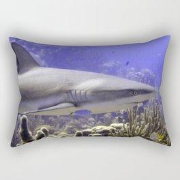 Shark Swimming Past Rectangular Pillow