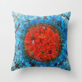 Dragonflies Throw Pillow