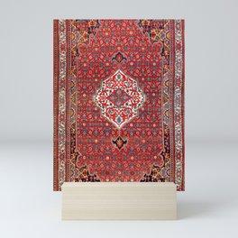 Bijar Kurdistan Northwest Persian Rug Print Mini Art Print