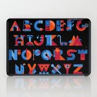 alphabet iPad Cases featuring Alphabet by koivo