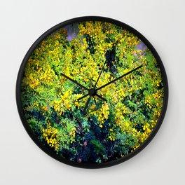 mimosas Wall Clock