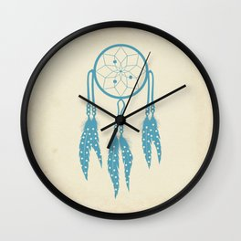 Polka Dot Dreamcather Wall Clock