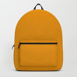 Colors of Autumn Honey Golden Yellow Solid Color Backpack