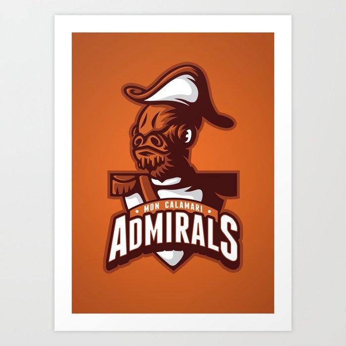 Mon Calamari Admirals on Orange Art Print