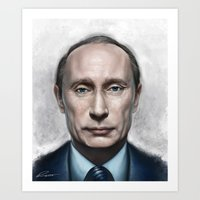 putin Art Prints featuring Vladimir Putin by Pavel Sokov