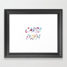 Carpe Diem Color Ink Framed Art Print