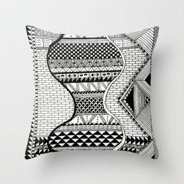 Wavy Geometric Patterns Throw Pillow